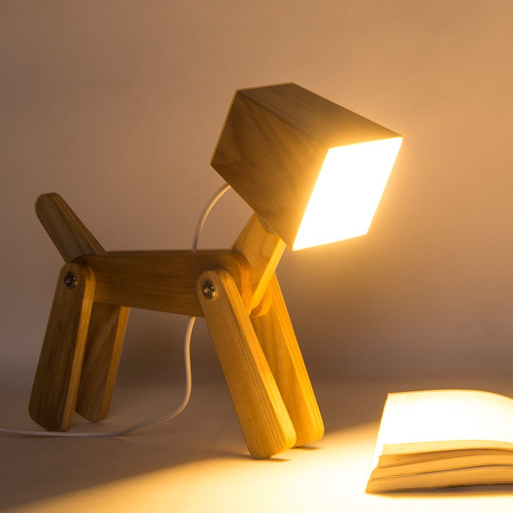 Adjustable Dimmable Bedside Table Lamp Pawsify