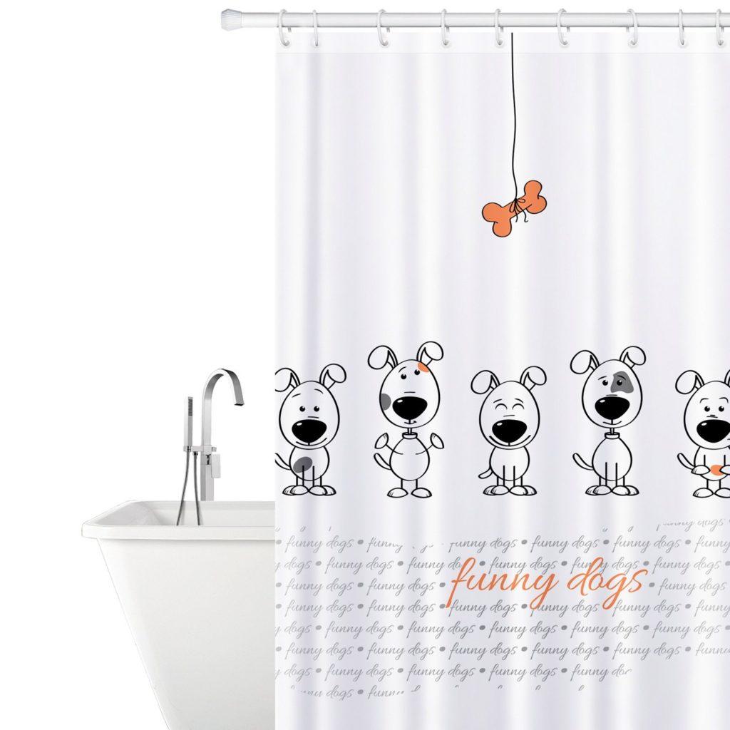 Tatkraft Funny Dogs Fabric Shower Curtain (8/10)