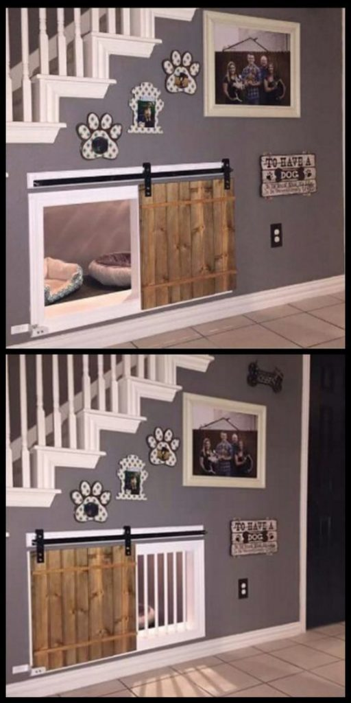 This Super Awesome Dog Bedroom Is Finished Off With Personal Decor, So Sweet