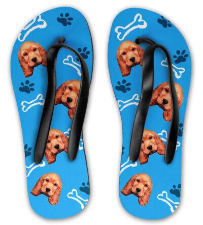 69e5eea530d6e8 Personalised Dog Flip Flops   37.21   30.56