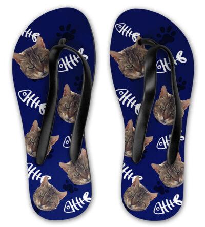 fb9b8b12d2af4f Personalised Cat Flip Flops - Pawsify