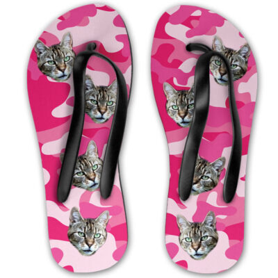 dc7a13bc771c3 Personalised Camo Cat Flip Flops - Pawsify